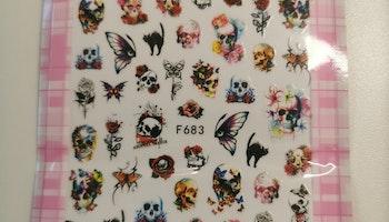 683 Döskalle fjärills Stickers