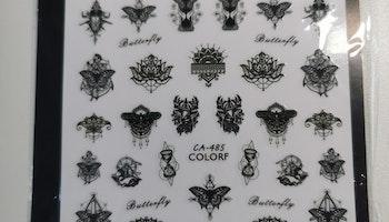 C485 Indiska Fjärils Stickers