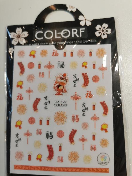 C178 Kinesiskt Nyår Stickers