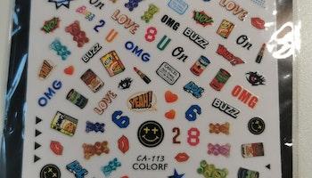 C113 OMG Stickers