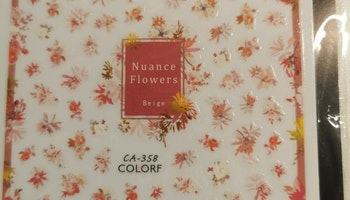 C358 Nuance blommor Stickers