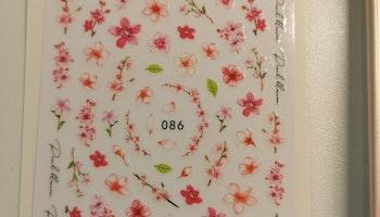 Fx086 Körsbärs blommor Stickers