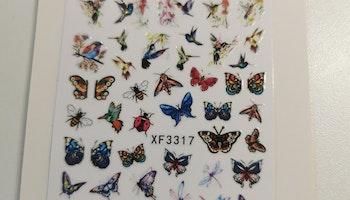 XF3317 Kolibri & fjärils Stickers