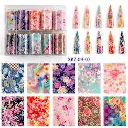 Nail foil Flowers  4*100cm