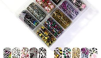 Nail foil Leopard & roses  4*100cm