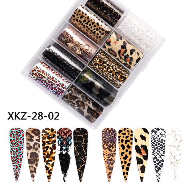 Nail foil Leopard & crackle 4*100cm