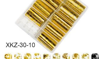 Nail foil Christmas stars gold  4*100cm