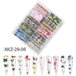 Nail foil Butterflies & flamingos  4*100cm