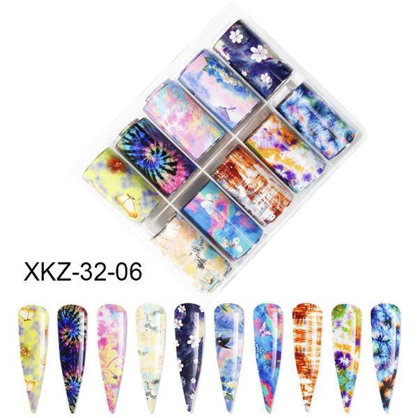 Nail foil Batik flowers & butterflies  4*100cm