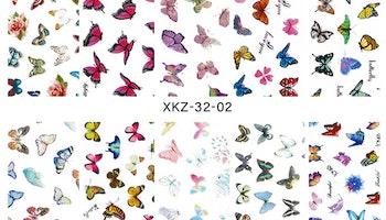 Nail foil medium Butterflies  4*100cm