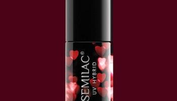 316 Semilac VALENTINE BURGUNDY RED 7ML