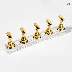 Tipphållare för fullt set Guld/ clear