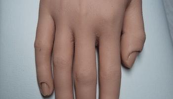 Träningshand Premium Sabina silikon med 5 böjbara fingrar högerhand