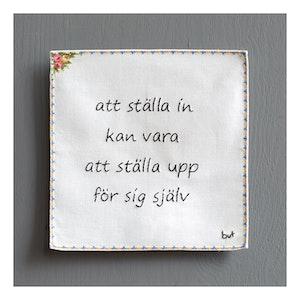 ATT STÄLLA IN KAN VARA ATT STÄLLA UPP...