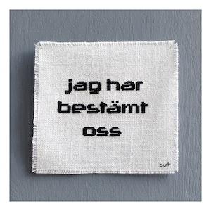 JAG HAR BESTÄMT OSS