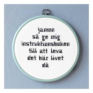 JAMEN SÅ GE MIG INSTRUKTIONSBOKEN...