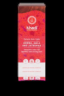 KHADI Henna hårfärg, Amla & Jathropa – Röd 100 g