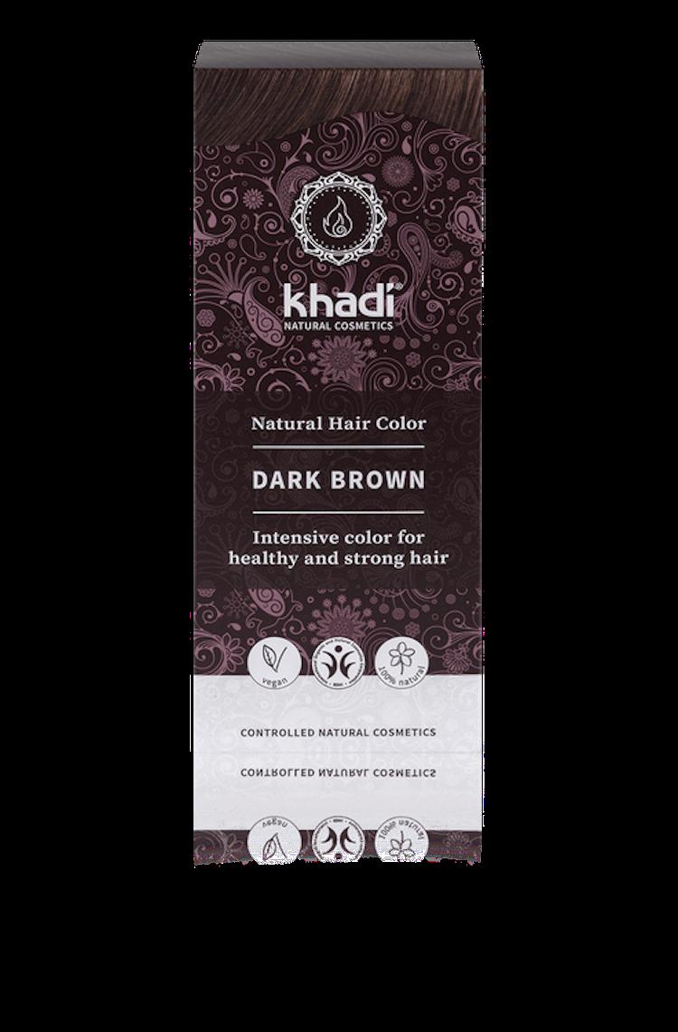 KHADI hårfärg - Mörkbrun 100 g