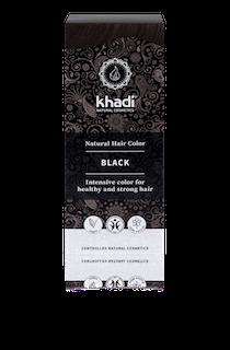 KHADI hårfärg– Svart 100 g