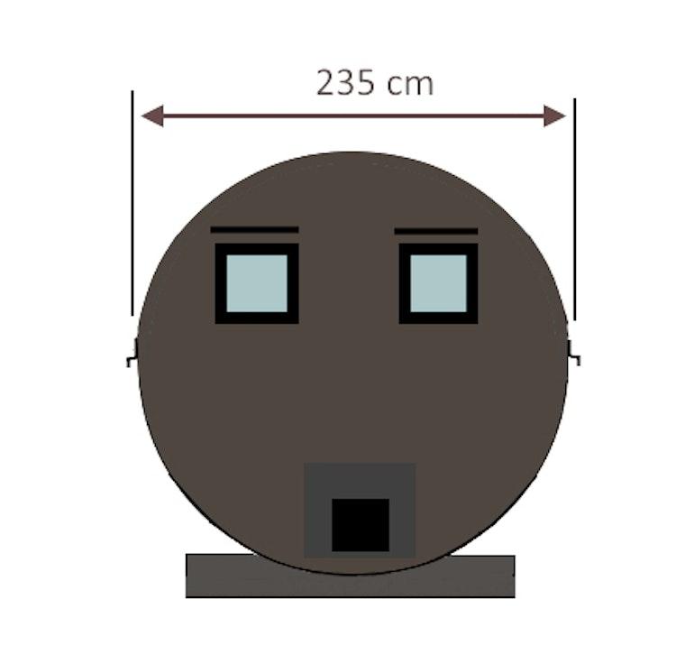 RUND BASTU - 3,9m 1-6 personer