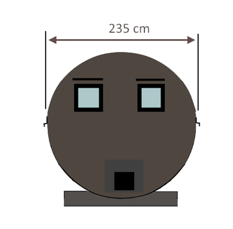 RUND BASTU - 4,5m 1-8 personer