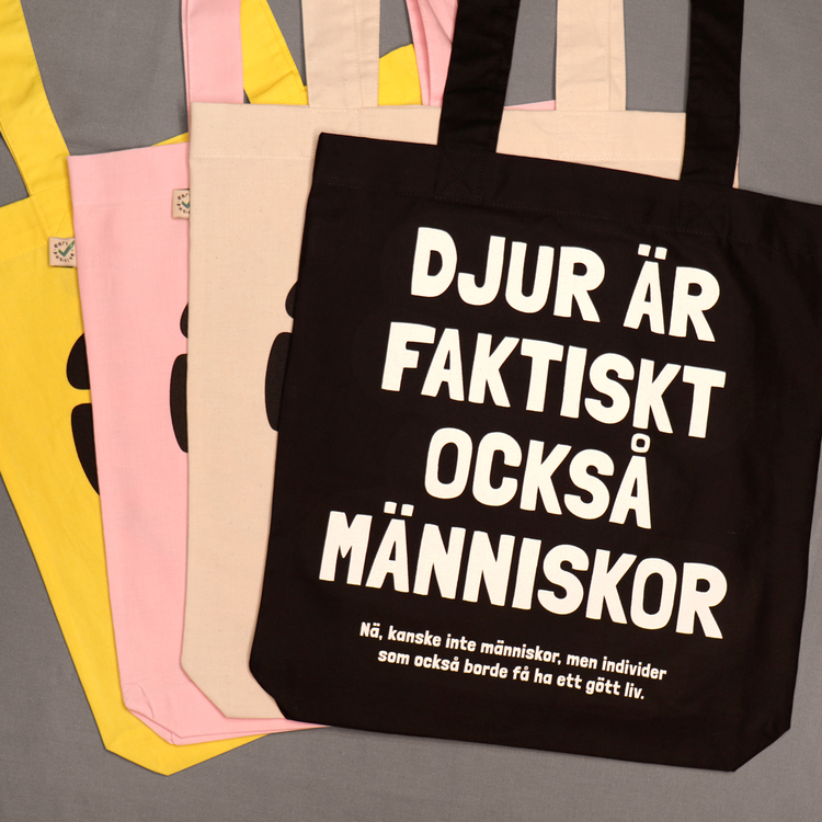 Ekologisk tygpåse   Djurisk designmarknad   rosa