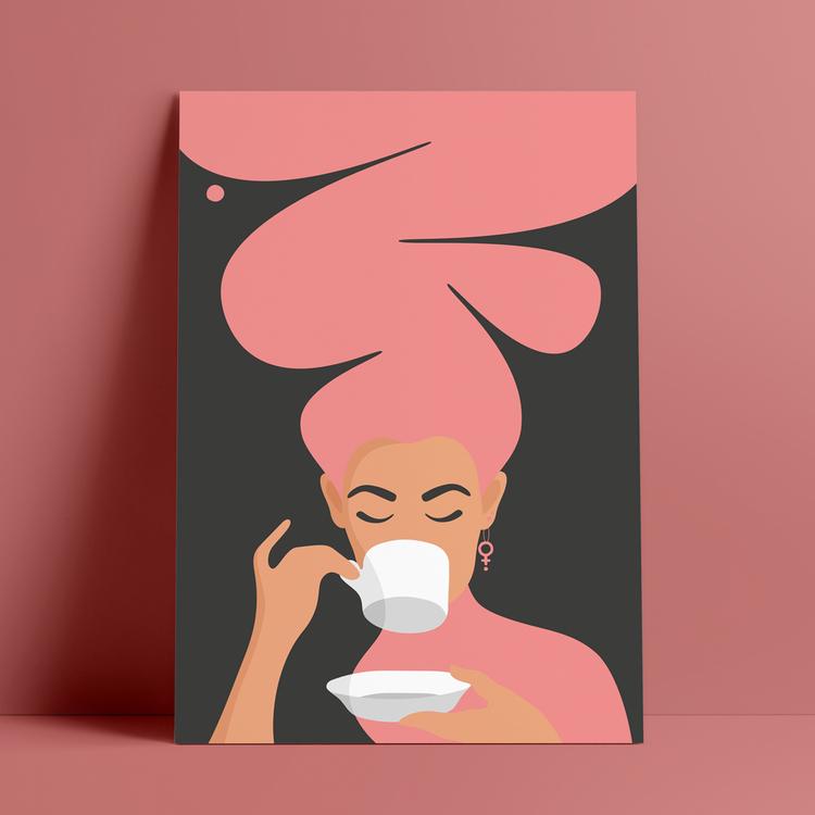 Kaffekvinna, rosa