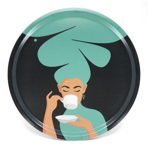 Kaffekvinnan | turkos | 38 cm