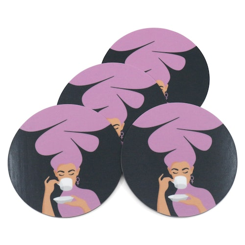 Coasters | 4-pack | lila
