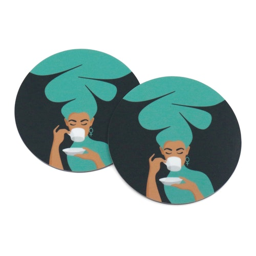 Coasters | 2-pack | turkos