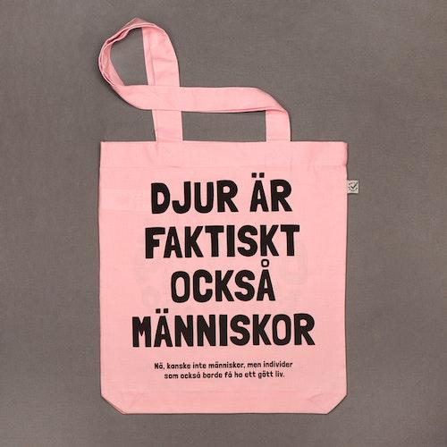 Ekologisk tygpåse | Djurisk designmarknad | rosa