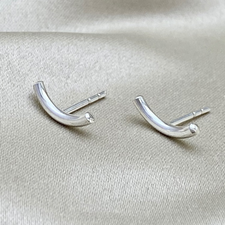 MOOD silver earrings. Show us you MOOD. Happy, smile, alright, sad. Mad by Stockholm Jewels