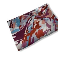 Sidenscarf Modern Camouflage Red/pink/blue