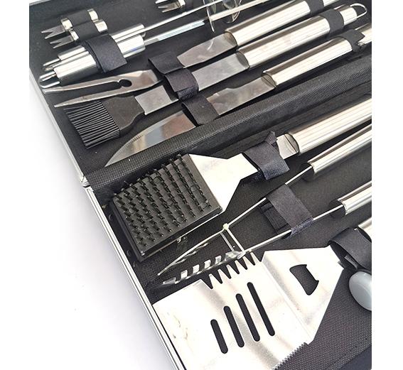 Grillbestick av rostfritt stål 18 delar
