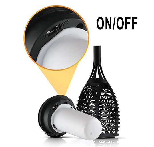 Fackla med solcell LED-flamma x 6st