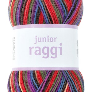Junior raggi 100g - Red mouliné Print