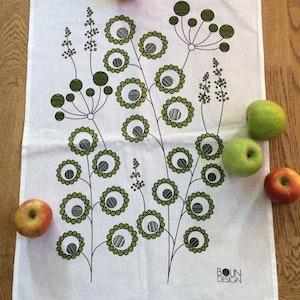 Kökshandduk - grön äng