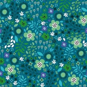 Blomster grön - Oeko-tex trikå