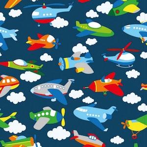 Flygplan - Oeko-tex trikå