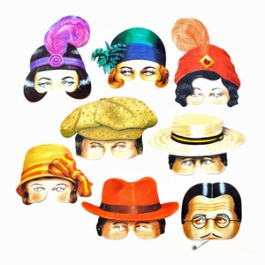 8-p partymask 1920-tal