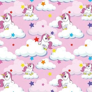 Rosa unicorn - Oeko-tex trikå