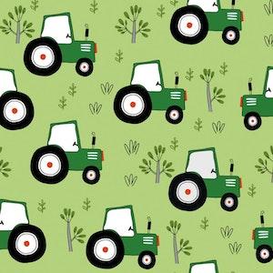 Grön traktor - Oeko-tex trikå