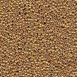 Miyuki seedbeads 11/0 duracoat galvanized gold