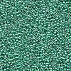 Miyuki seedbeads 11/0 duracoat galvanized mint green