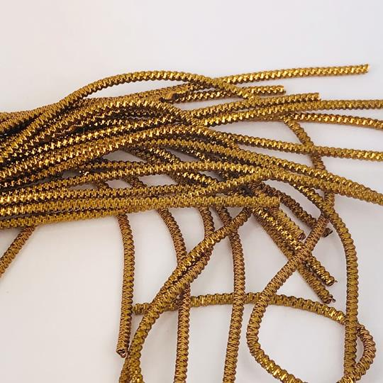 French wire spiral 2mm antikguld