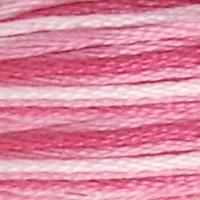 Pärlgarn nr 8 rosa melerad 48