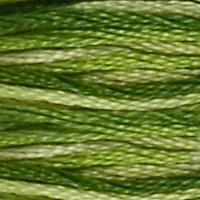 Pärlgarn nr 8 grön melerad 92