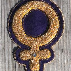 Guldbroderi Feminist - materialsats
