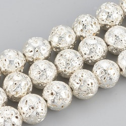 Pärla 9 mm silverpläterad
