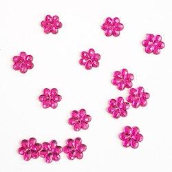Blompärla platt rosa